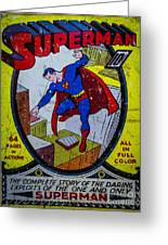 Superman Greeting Card by Mitch Shindelbower
