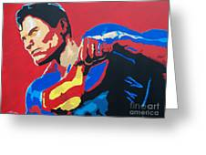 Superman - Red Sky Greeting Card