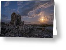 Supermoon At Mono Lake Greeting Card