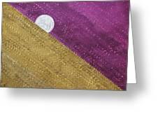 Supermoon Original Painting Greeting Card