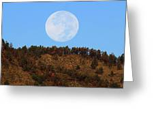 Supermoon Set Greeting Card by Emily Clingman