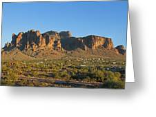 Superstition Mountain In The Evening Sun Greeting Card