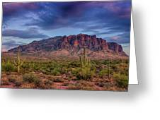Superstition Twilight  Greeting Card