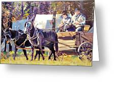 Supply Wagon Greeting Card