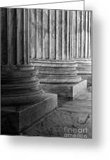 Supreme Court Columns Black And White Greeting Card