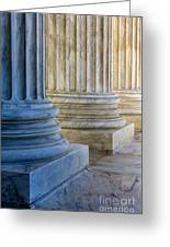 Supreme Court Colunms Greeting Card