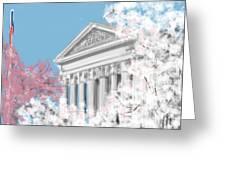 Supreme Court Washington Dc Greeting Card