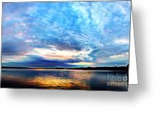 Sureal Pewaukee Lake Sunrise Greeting Card