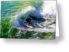 Surf 3 Off The Lip Greeting Card