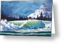 Surf And Snow Greeting Card