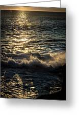 Surf At Dawn Greeting Card