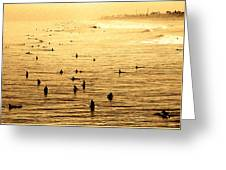 Surf Convention Greeting Card by Ron Regalado