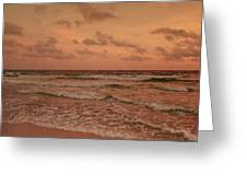 Surf - Florida Greeting Card by Sandy Keeton