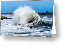 Surf Is Up At York Beach Greeting Card