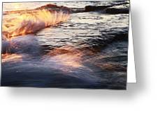 Surf On Fire-1 Greeting Card