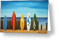 Surf On Greeting Card