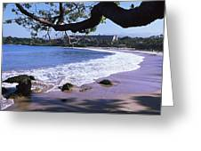 Surf On The Beach, Mauna Kea, Hawaii Greeting Card