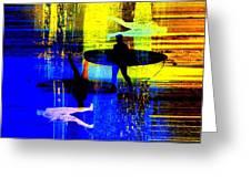 Surf Popar Greeting Card
