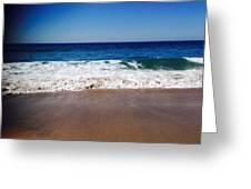 Surf Sand And Sky Greeting Card