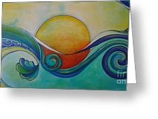 Surf Sun Spirit Greeting Card