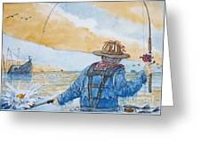 Surf Trout Fishing Greeting Card