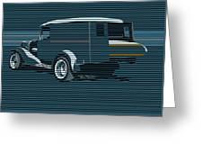 Surf Truck Ocean Blue Greeting Card