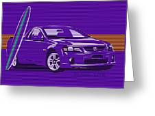 Surf Ute Purple Haze Greeting Card