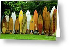 Surfboard Fence Maui Greeting Card
