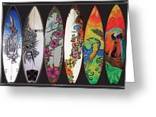 Surfboards Art Jungle2 Greeting Card
