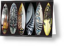 Surfboards Art Greeting Card