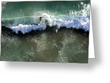 Surfer From The Sky Greeting Card