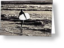 Surfer Girl Greeting Card by Scott Allison