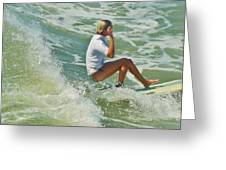 Surfer Hatteras Island 3 7/16 Greeting Card