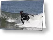 Surfer Hitting The Curl Greeting Card