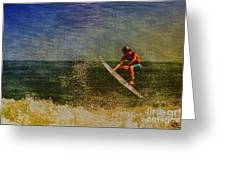 Surfer In Oil Greeting Card