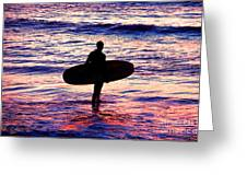 Surfer Silhouette Greeting Card