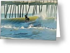 Surfer Sunrise 31 10/2 Greeting Card