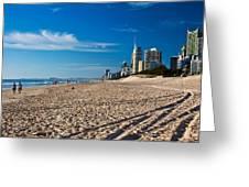Surfers Beach Greeting Card