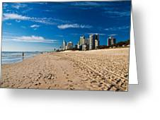 Surfers Paradise Beach By Day Greeting Card