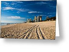 Surfers Paradise Beach South Greeting Card