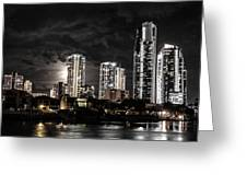 Surfers Paradise By Night Greeting Card