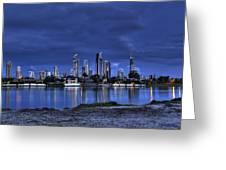 Surfers Paradise Skyline Twilight Greeting Card