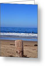 Surfers Waiting.... Greeting Card