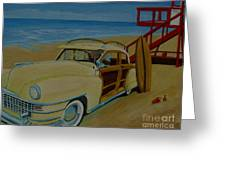Surfers Woody Greeting Card