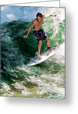 Surfin` Greeting Card