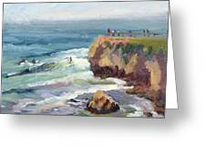 Surfing At Steamers Lane Santa Cruz Greeting Card