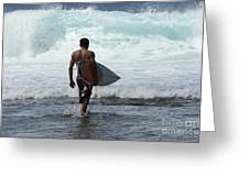 Surfing Brazil 3 Greeting Card
