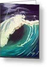Surfing Dare Devil  Greeting Card