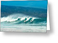 Surfing Duel Greeting Card