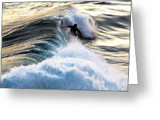 Surfing For Gold Greeting Card